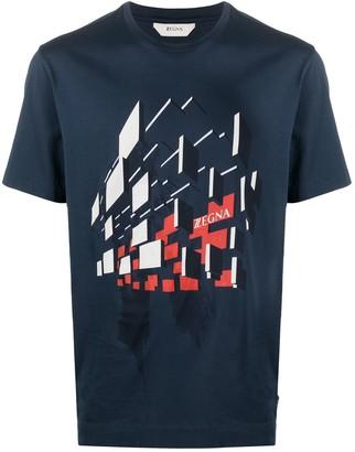Ermenegildo Zegna geometric print T-shirt