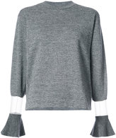 Toga flared-cuff sweater