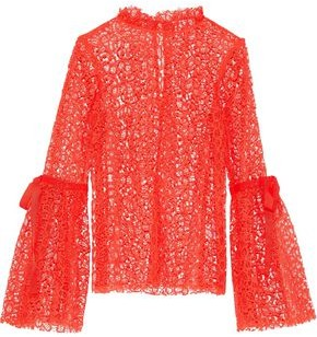 Alice McCall Just Lust Tie-detailed Lace Top