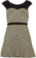 Vanessa striped cotton-blend dress