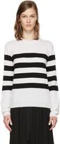Jil Sander White and Black Marine Sweater