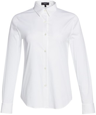 Theory Tenia Luxe Cotton Shirt