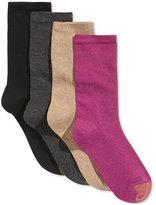 Gold Toe Women's 4-Pk. Flat Knit Solid Socks