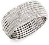 Adriana Orsini Eight-Row Crystal Encrusted Bangle Bracelet