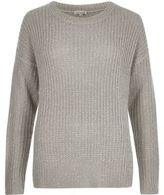River Island Womens Grey knit sequin sweater