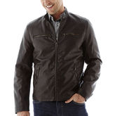 Dockers Faux-Leather Racer Jacket