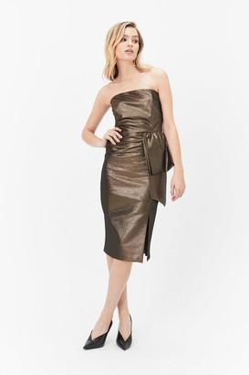 Coast Bandeau Dress With Layered Detail