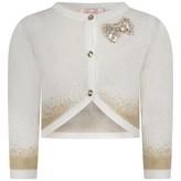 Billieblush BillieblushBaby Ivory & Gold Knitted Cardigan