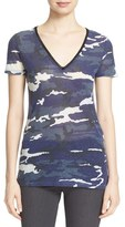 Majestic Filatures Women's Camo Print V-Neck Tee