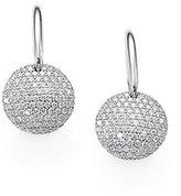 Roberto Coin Diamond & 18K White Gold Disc Drop Earrings