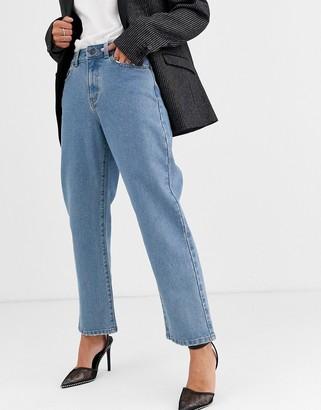 Object straight leg jean in mid wash-Blue