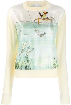Lanvin Mermaid print jumper