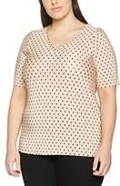 Evans Women's Polka Dot Pleated Tops