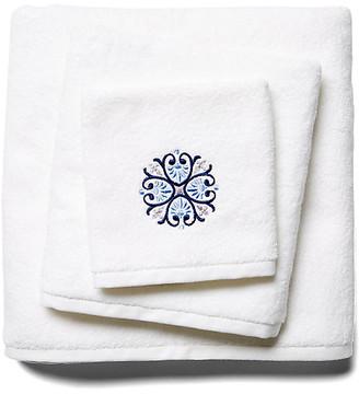 Hamburg House 3-Pc Bogota Towel Set - Blue