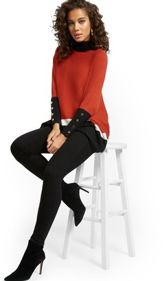New York & Co. Feel Good High-Waisted No Gap Pull- On Super Skinny Jeans - Black