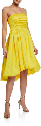 Aidan Mattox Strapless Taffeta Bubble Dress