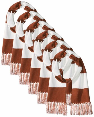 Clementine Apparel Men's Acrylic Spectator Winter Scarf (Pack of 6)