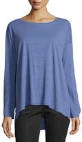 Eileen Fisher Long-Sleeve Slubby Organic Jersey Top