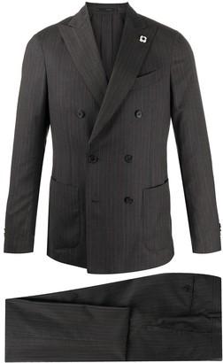 Lardini Pinstripe Double-Breasted Suit