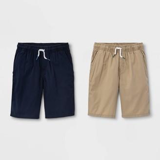 Cat & Jack Boys' 2pk Pull-On Woven Shorts - Cat & JackTM Light