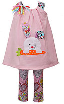 Bonnie Jean Bonnie Baby Girls 12-24 Months Easter Bunny Dress & Printed Leggings Set