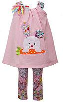 Bonnie Jean Bonnie Baby Girls 12-24 Months Easter Bunny Dress & Printed Leggings Set