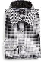 English Laundry Small-Check Woven Dress Shirt, Black