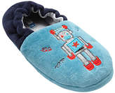 John Lewis Children's Robot Closed Back Slippers, Turquoise