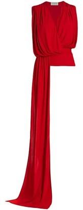 Halston Lyric Jersey Drape Top