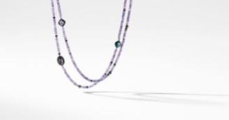 David Yurman Davidyurman Dy Signature Bead Necklace With Amethyst, Black Orchid