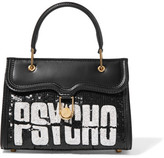 Olympia Le-Tan Psycho Embellished Leather Tote - Black