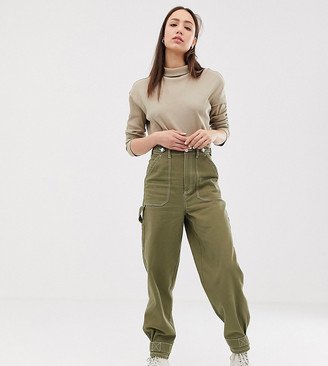 Asos Tall ASOS DESIGN Tall utility pants with top stitching and tab detail