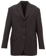Acne Studios Jill Oversized Single-breasted Crepe Jacket - Womens - Black
