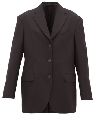 Acne Studios Jill Oversized Single-breasted Crepe Jacket - Black