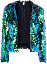 Topshop Circle Sequin Embellished Jacket