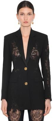 Versace Crepe & Lace Blazer