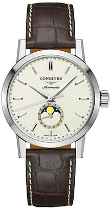 Longines The 1832 40MM Alligator-Strap Automatic Watch