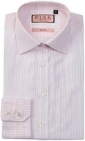 Thomas Pink Samuel Slim Fit Stripe & Graph Check Dress Shirt