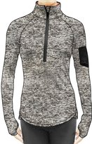 icyZone Women's Workout Yoga Track Jacket 1/2 Zip Long Sleeve Running Shirt (M, )