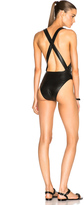 Cushnie et Ochs Faux Leather Swimsuit