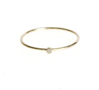 Jennifer Meyer Thin Ring with Diamond