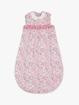 John Lewis & Partners Floral Print Sleeping Bag, 1 Tog, Pink