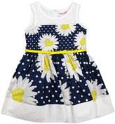 Nannette Toddler Girl Daisy & Polka-Dot Printed Poplin Dress