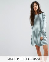 Asos Smock Dress in Ponte Stripe