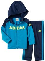 adidas Boys 4-7x Colorblocked Hoodie & Side Stripe Pants Set