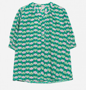Thumbnail for your product : Margaux Retro Green Print Shirt - 8-10