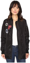 Brigitte Bailey Monica Extra Long Bomber with Patches