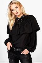schwarze bluse mit weissem kragen shopstyle deutschland. Black Bedroom Furniture Sets. Home Design Ideas