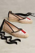 Bibi Lou Beaded Ankle-Wrap Espadrilles