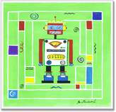 Stupell Industries The Kids Room Robot Man with Background Square Wall Plaque